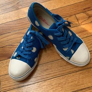 Cath Kidson blue polka dot sneakers